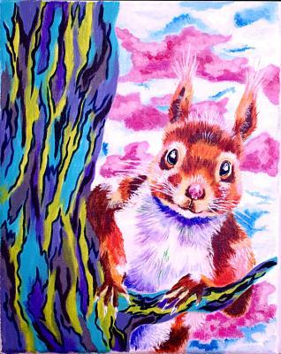L'écureuil curieux