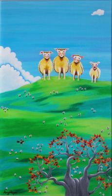 Les quatre moutons